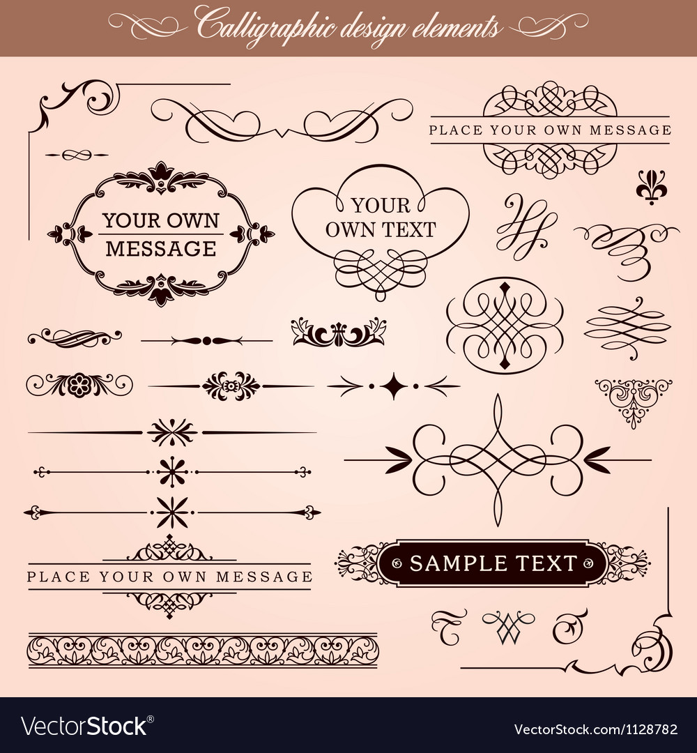 Calligraphic design elements and page decoration vector | Price: 1 Credit (USD $1)