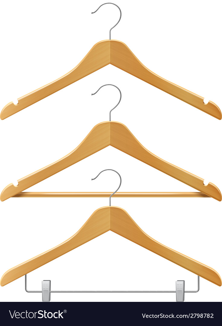 Clothes wooden hangers vector | Price: 1 Credit (USD $1)