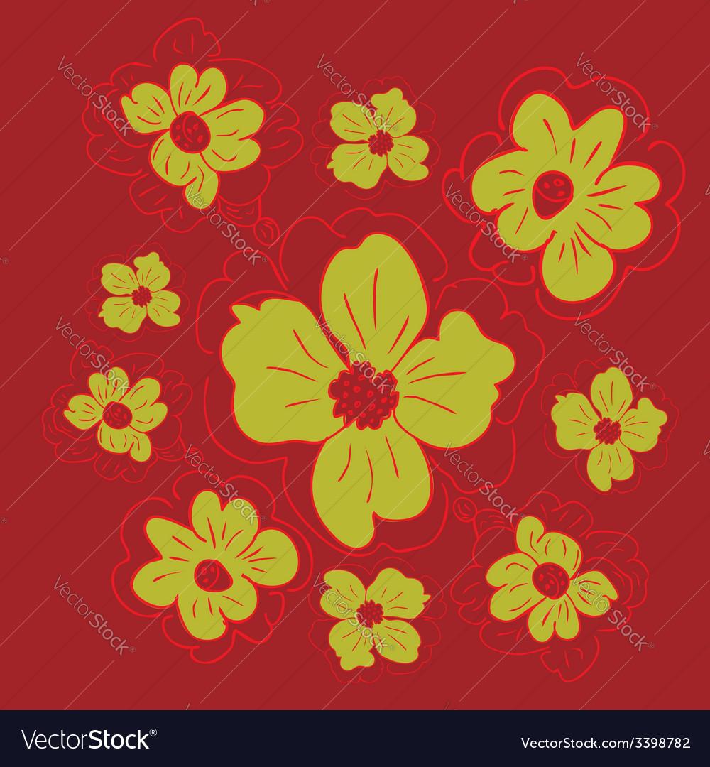 Doodle flowers4 vector | Price: 1 Credit (USD $1)
