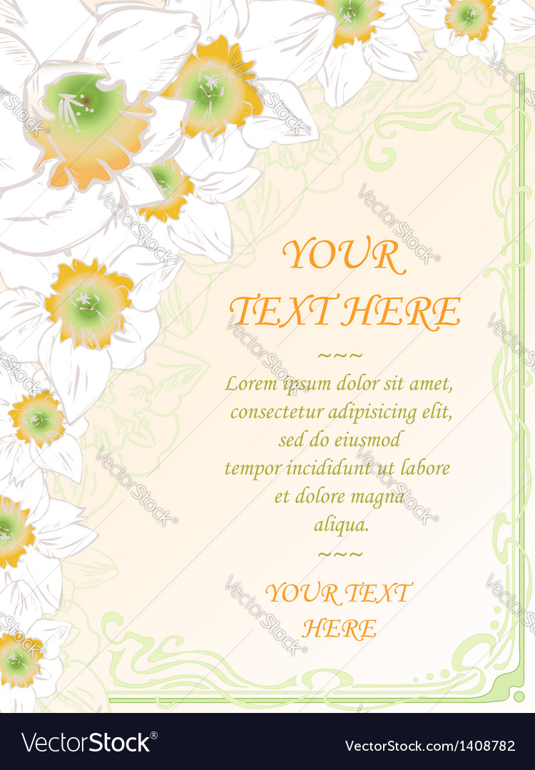 Hand drawn vertical card vintage art deco style vector | Price: 1 Credit (USD $1)