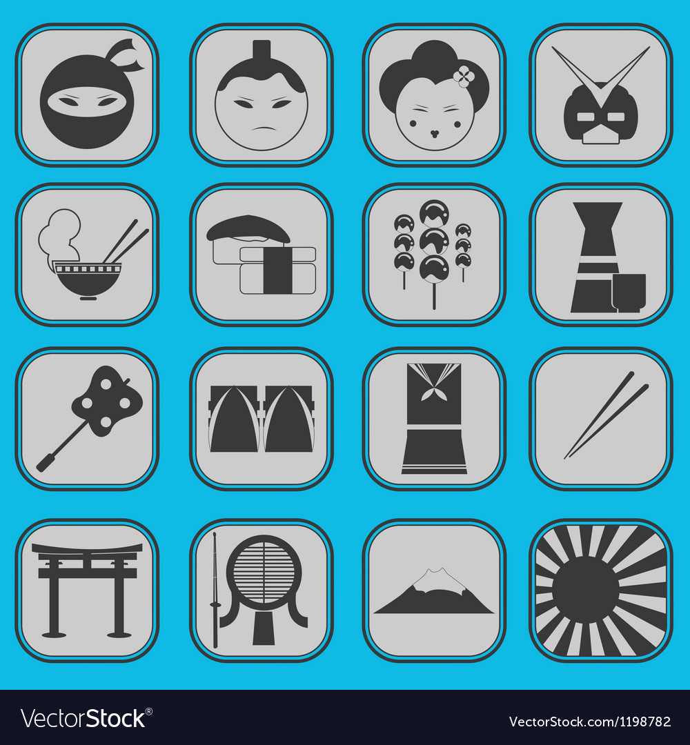 Japanese icon basic style vector | Price: 1 Credit (USD $1)