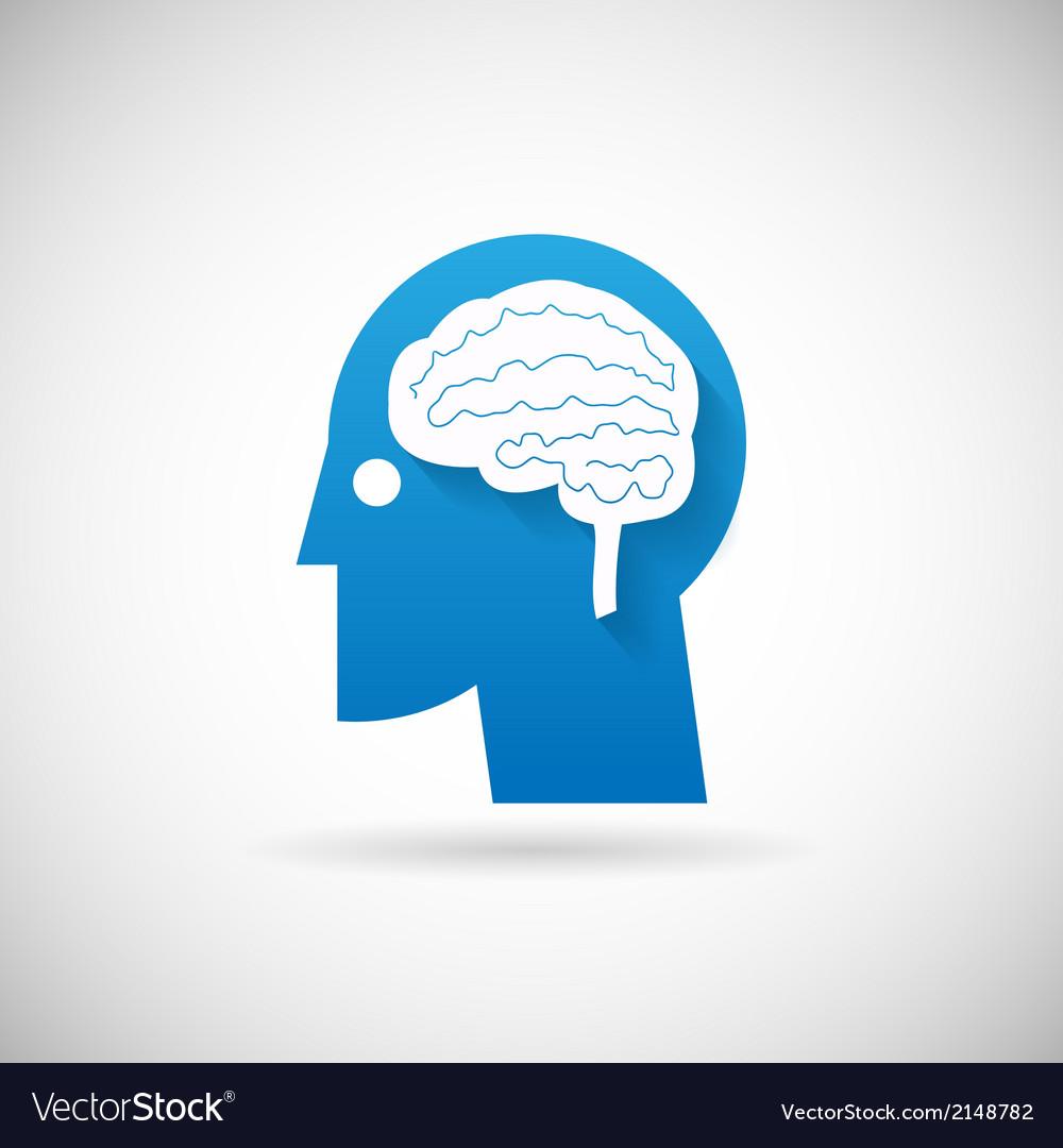 Power of intelligent symbol head with brain vector | Price: 1 Credit (USD $1)