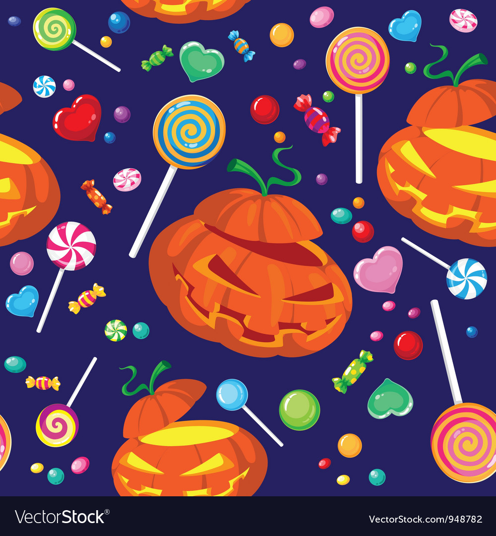 Seamless halloween candy vector | Price: 3 Credit (USD $3)