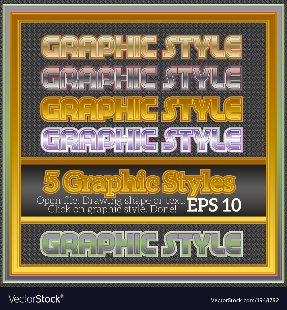 Set of various graphic styles for design vector | Price: 1 Credit (USD $1)