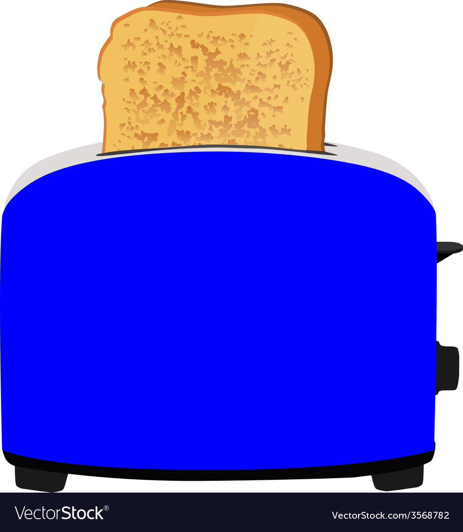 Toaster with bread vector | Price: 1 Credit (USD $1)