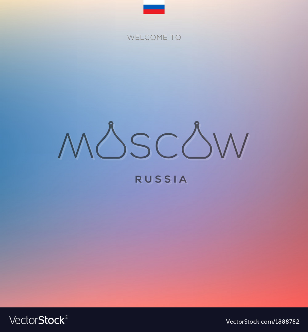 World cities labels - moscow vector | Price: 1 Credit (USD $1)