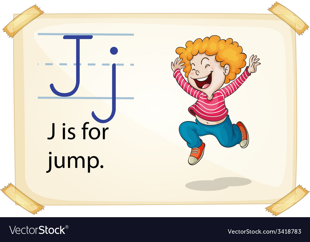 A letter j for jump vector | Price: 1 Credit (USD $1)