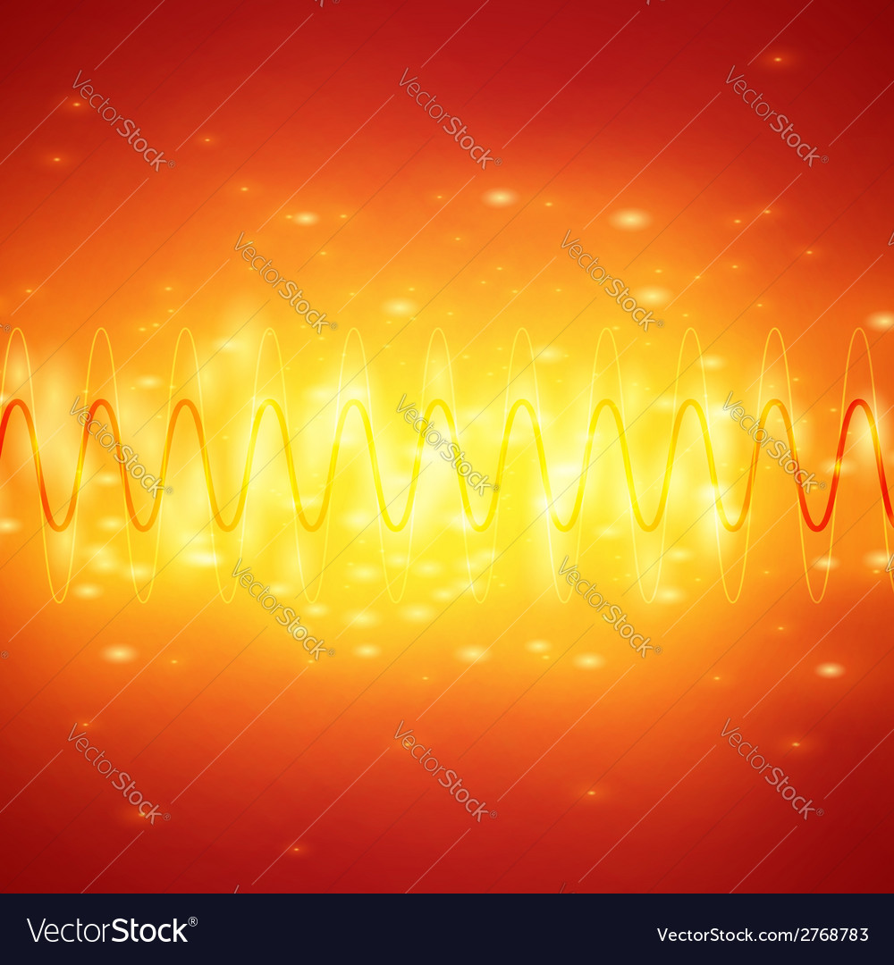 Bright sound waves background vector | Price: 1 Credit (USD $1)
