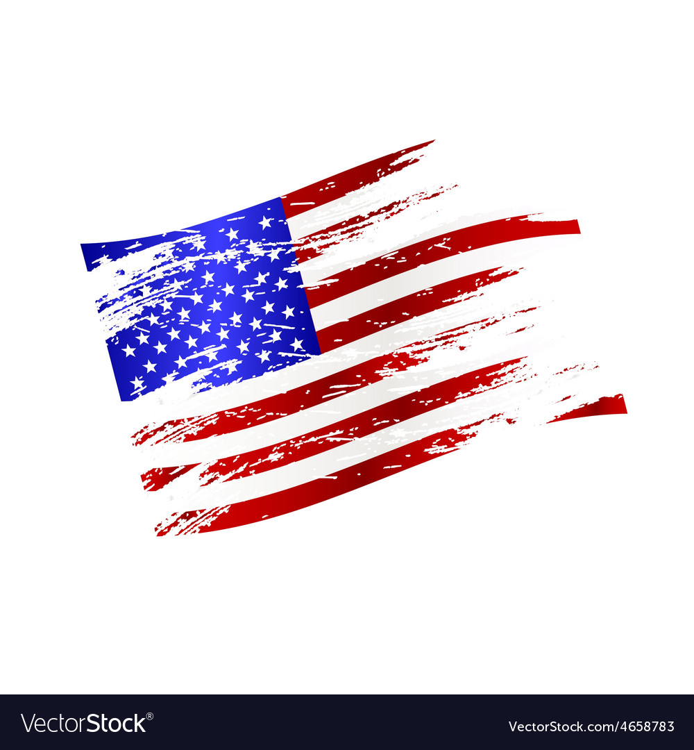 Color american national flag grunge style eps10 vector | Price: 1 Credit (USD $1)