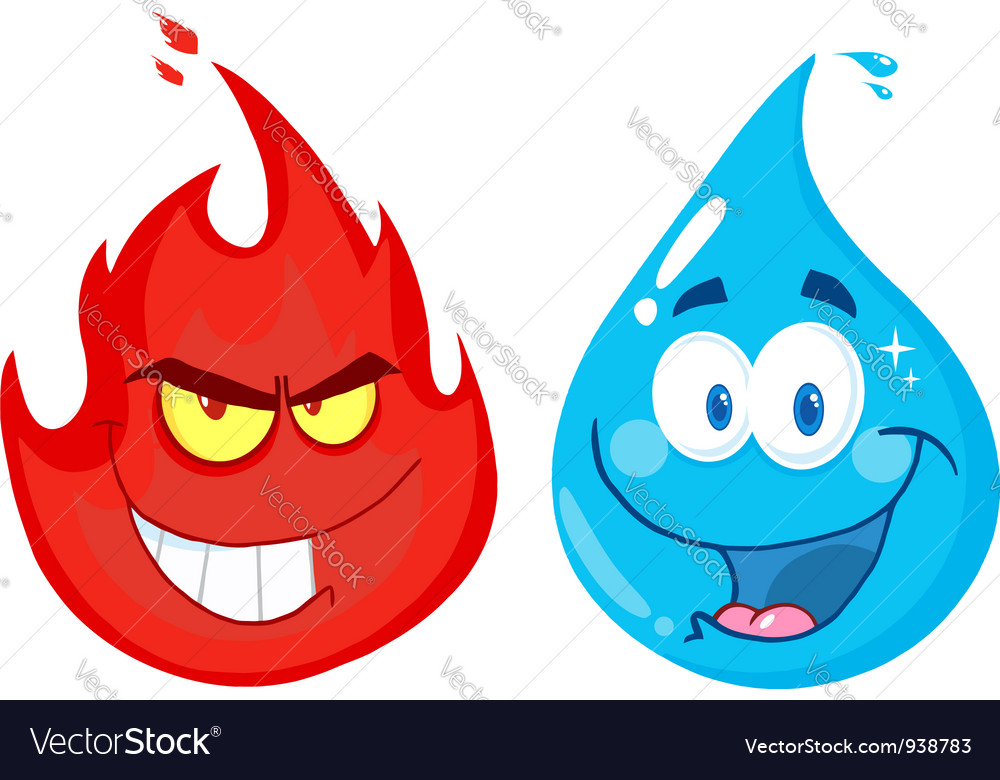 Flame and water vector | Price: 1 Credit (USD $1)