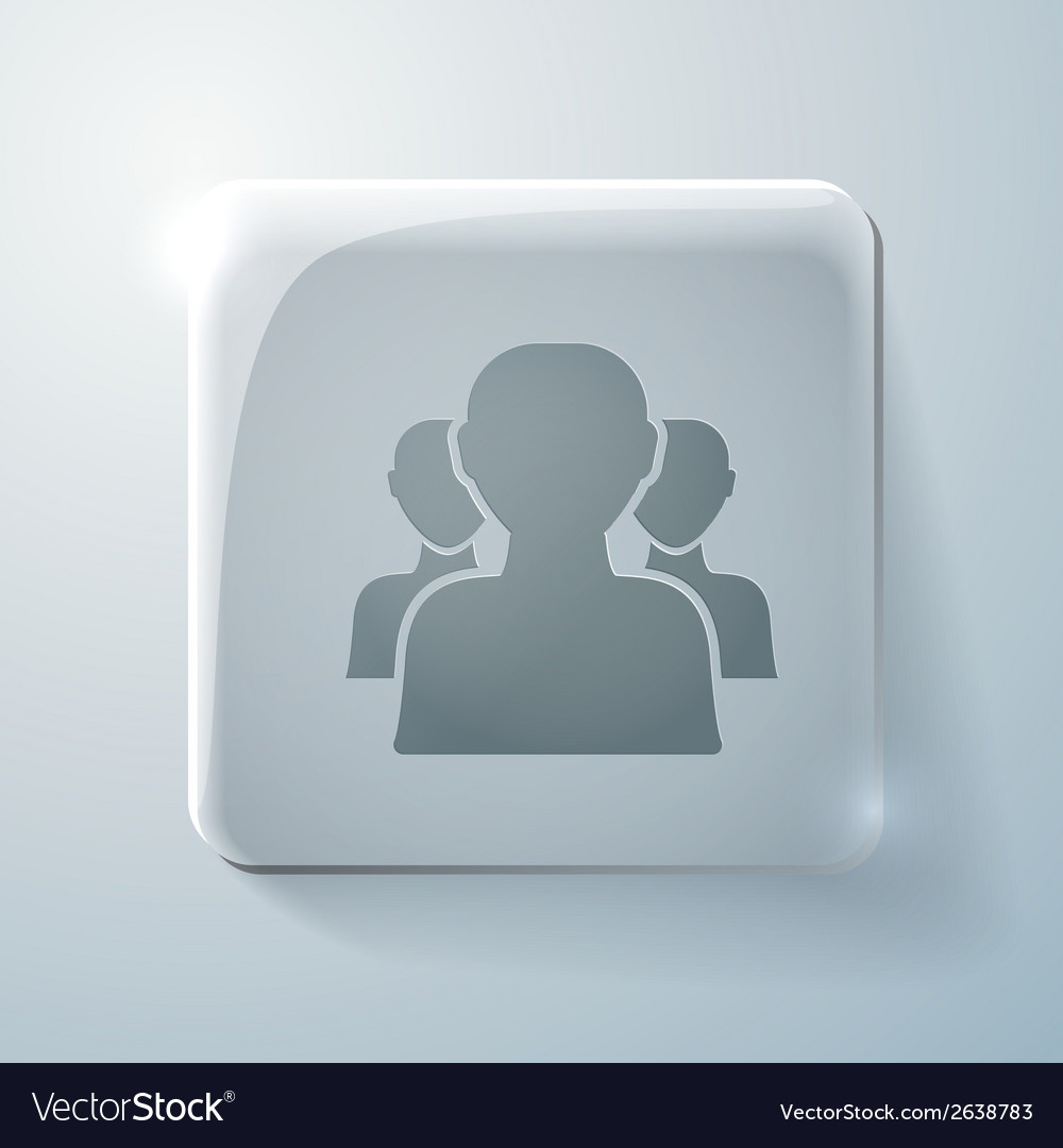 Glass icon silhouette of a men social media vector | Price: 1 Credit (USD $1)