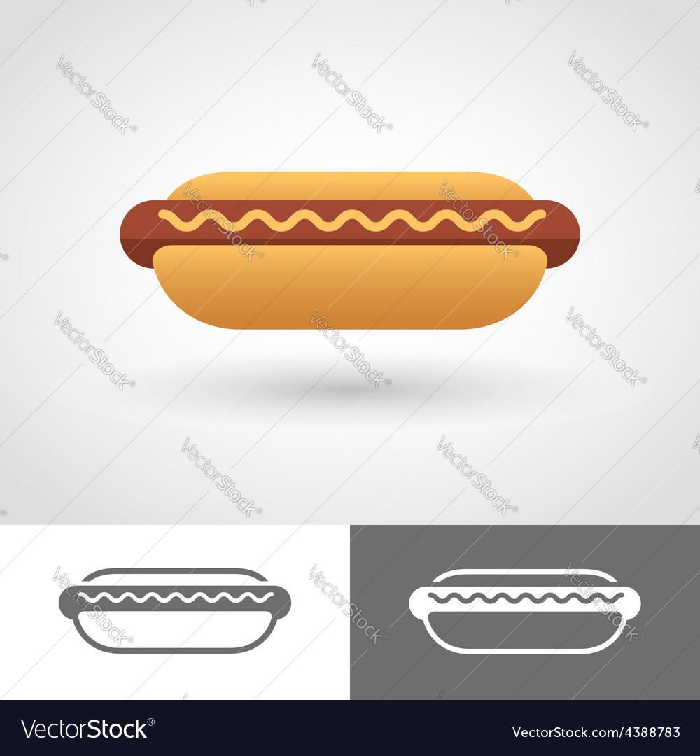 Hot dog icon vector | Price: 1 Credit (USD $1)