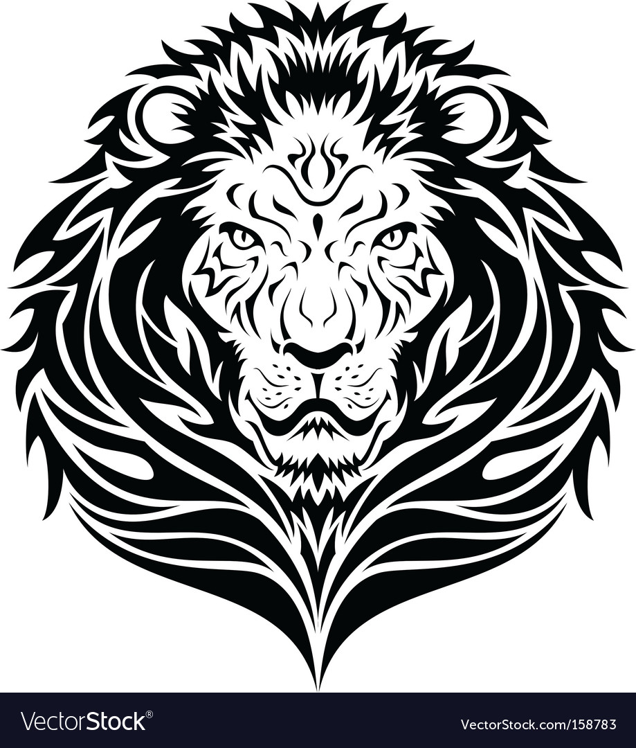 Lion head tattoo vector | Price: 1 Credit (USD $1)