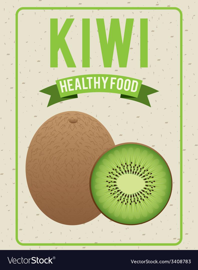 Organic healthy food design vector | Price: 1 Credit (USD $1)