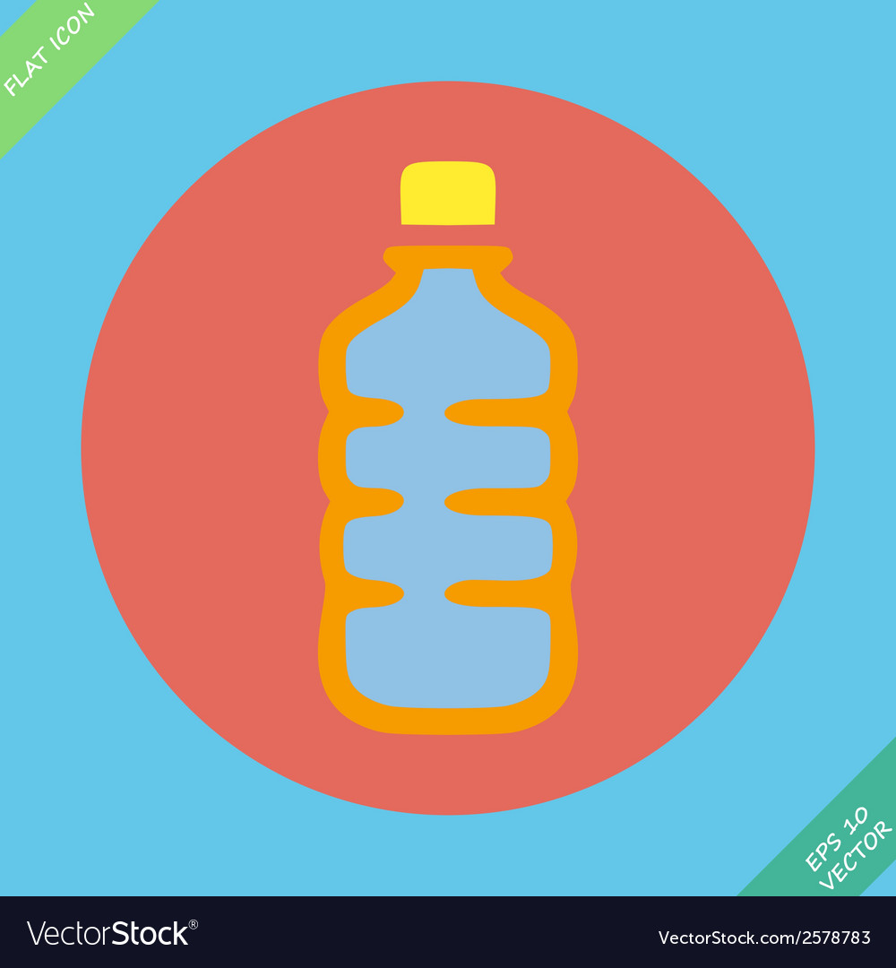 Plastic bottle with drink - vector | Price: 1 Credit (USD $1)
