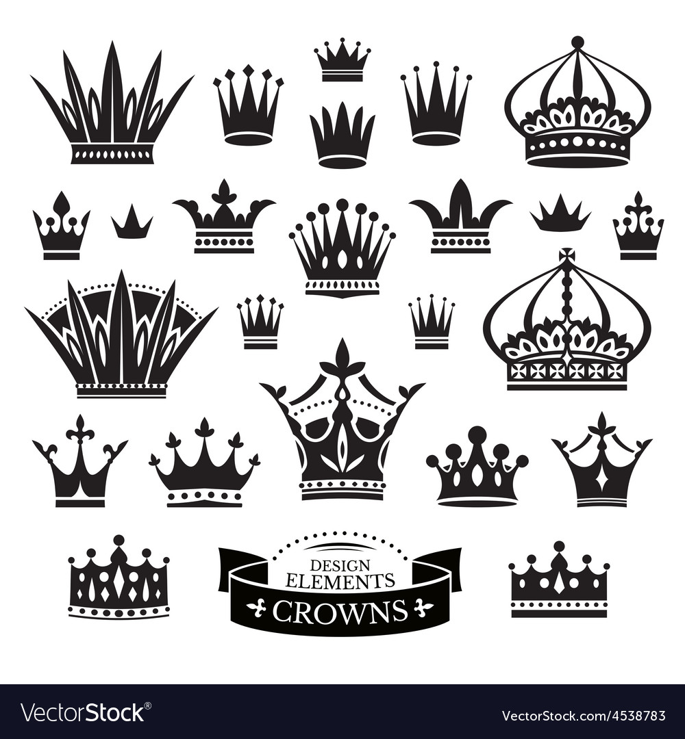 Set of various crowns vector | Price: 1 Credit (USD $1)