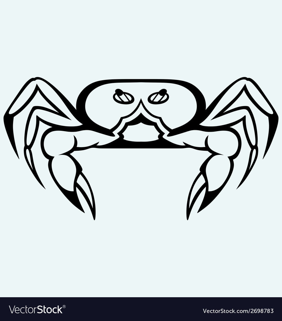 Silhouette crab vector | Price: 1 Credit (USD $1)
