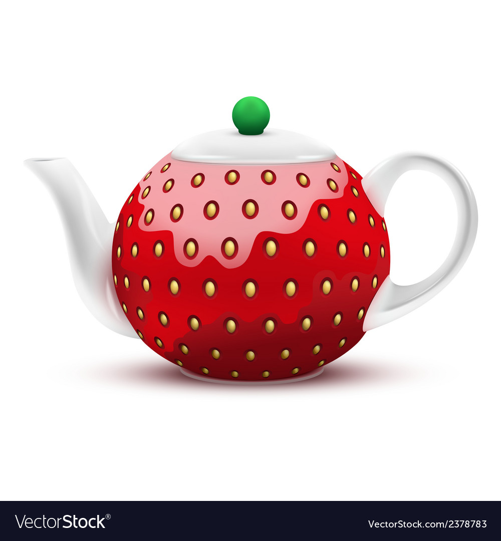 Teapot in the form of a large strawberry vector | Price: 1 Credit (USD $1)