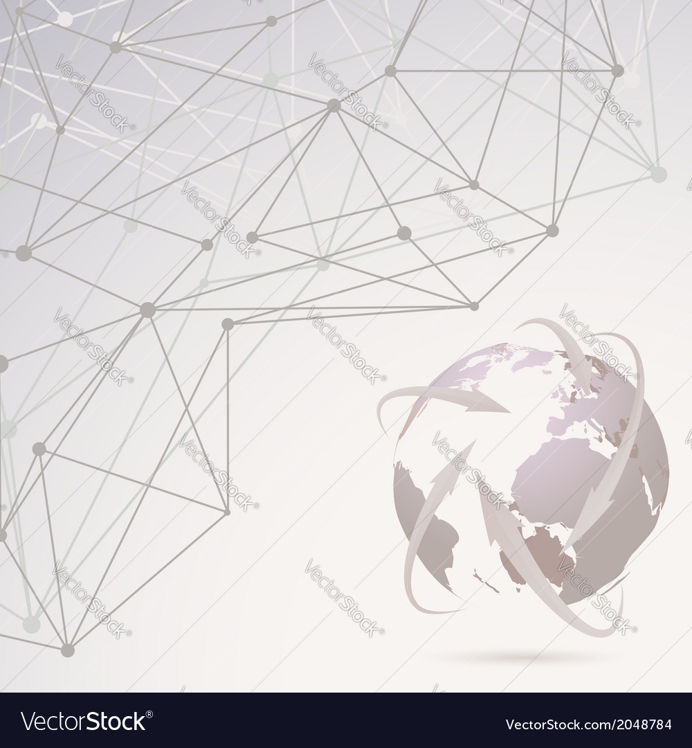 Abstract global communication background vector | Price: 1 Credit (USD $1)