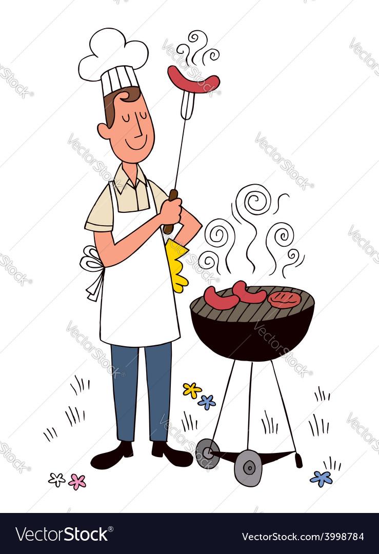 Barbecue chef vector | Price: 1 Credit (USD $1)