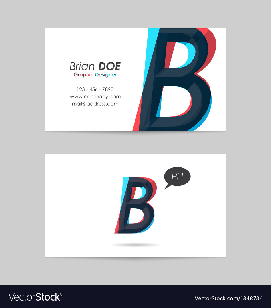 Business card template - letter b vector | Price: 1 Credit (USD $1)
