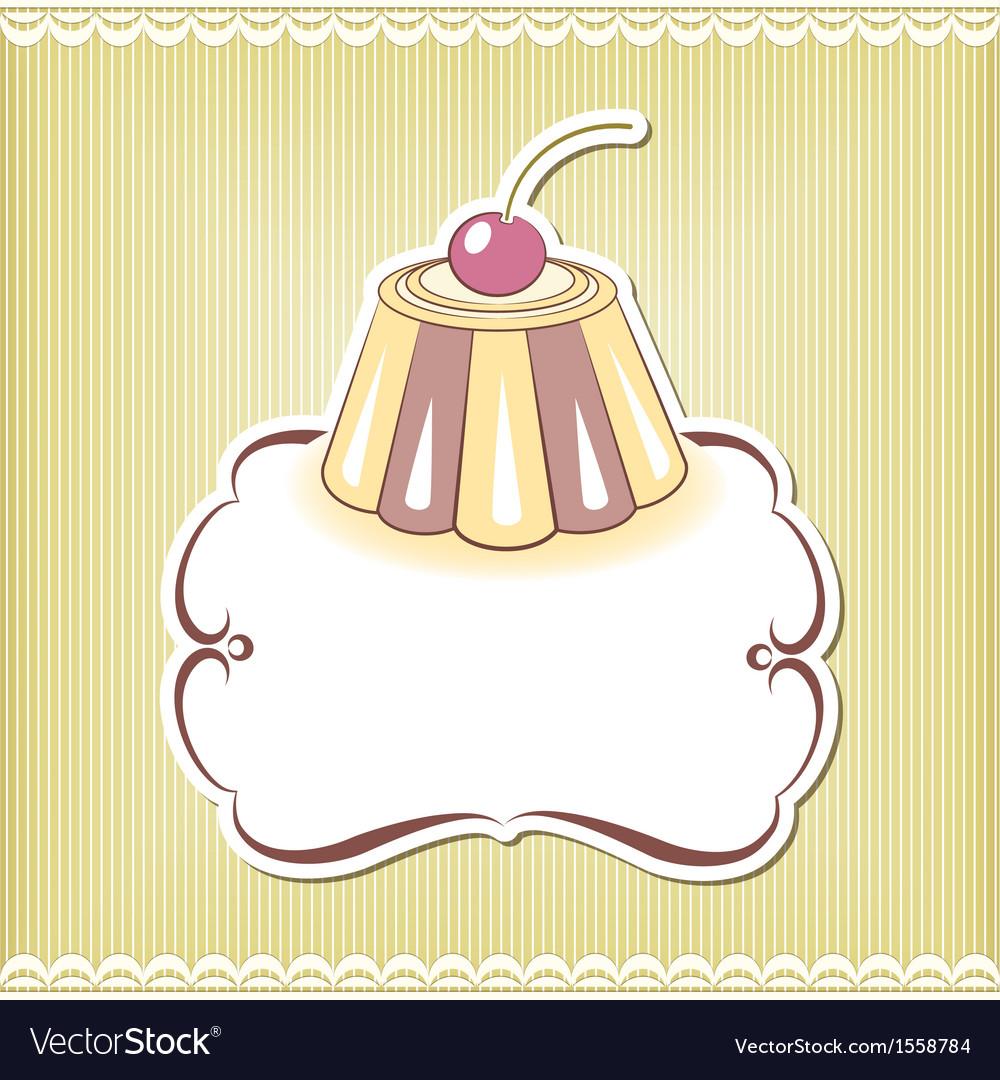 Cute cupcake border vector   Price: 1 Credit (USD $1)