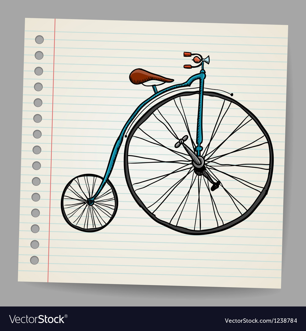 Doodle old bicycle vector | Price: 1 Credit (USD $1)
