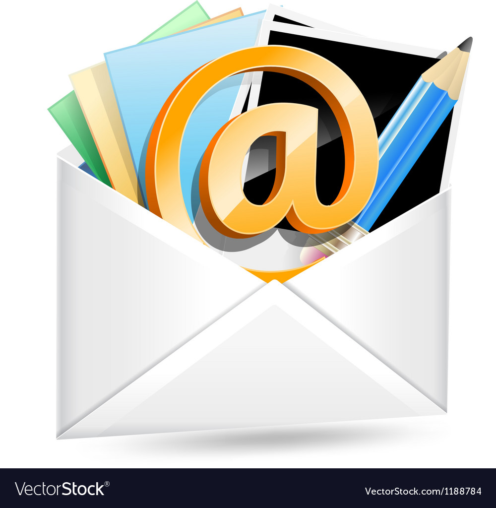 Envelope with email sign vector | Price: 3 Credit (USD $3)