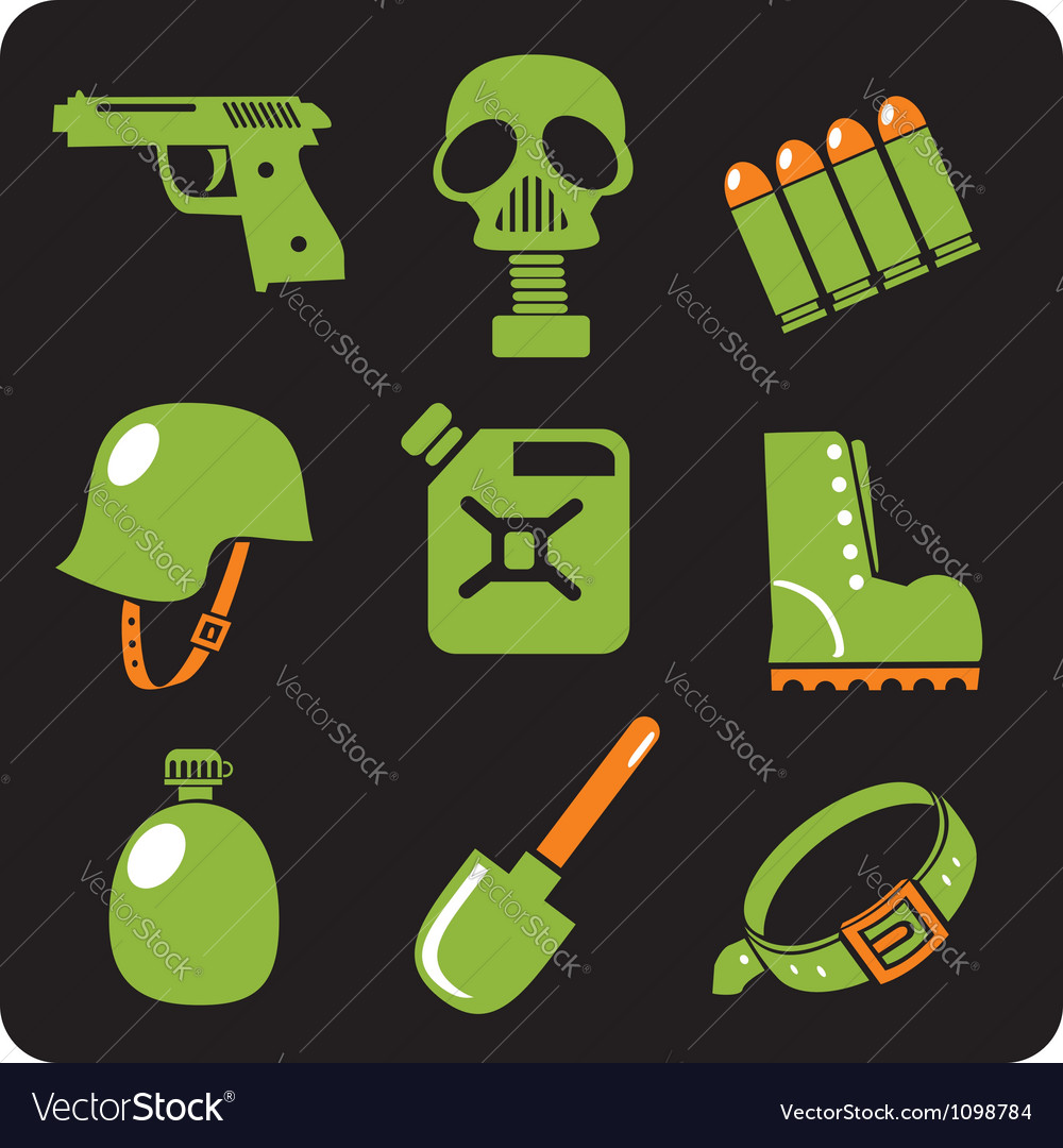 Military icons - set vector | Price: 1 Credit (USD $1)