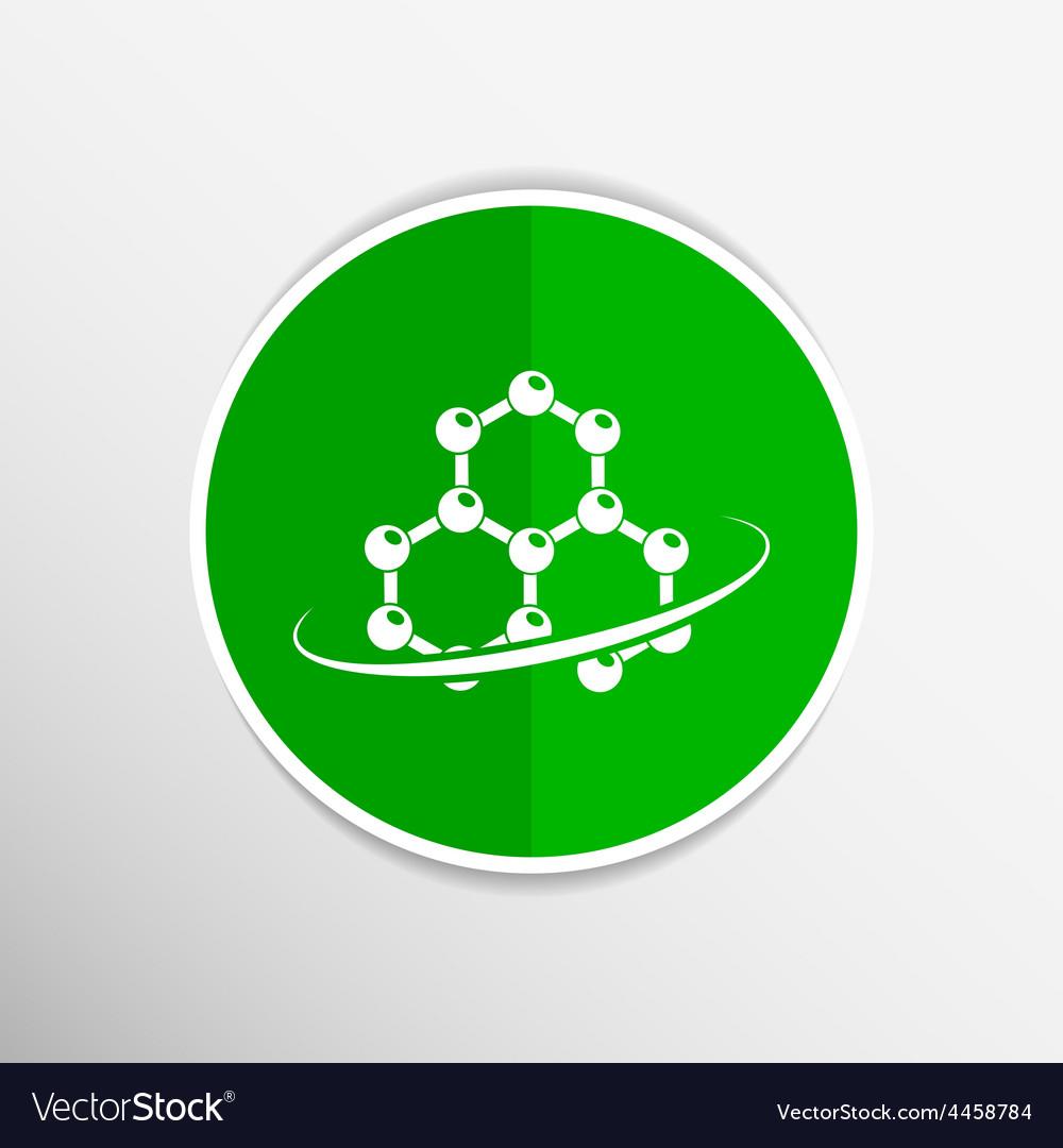Molecule icon atom chemistry symbol element vector   Price: 1 Credit (USD $1)