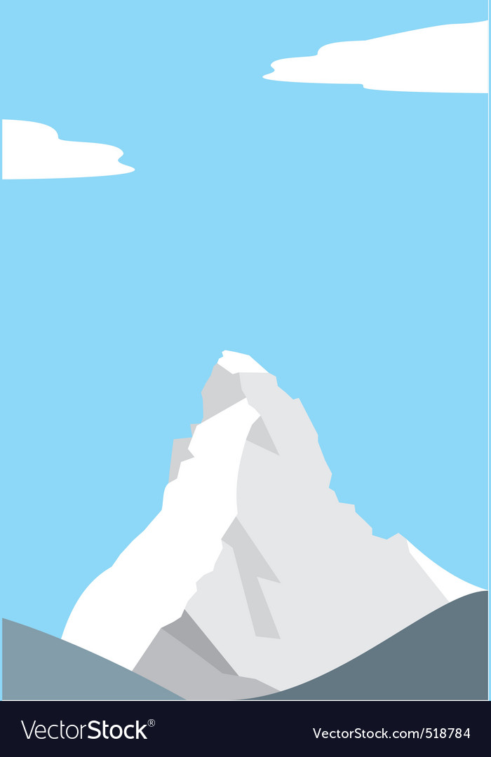 Mount matterhorn in the alps vector | Price: 1 Credit (USD $1)