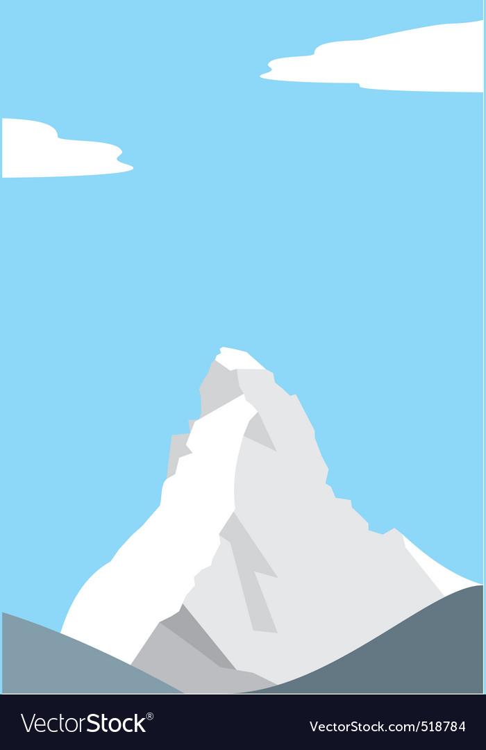 Mount matterhorn in the alps vector | Price: 1 Credit (USD $1)
