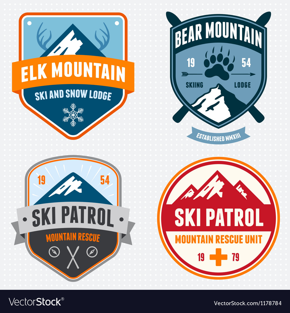 Ski badges vector | Price: 3 Credit (USD $3)