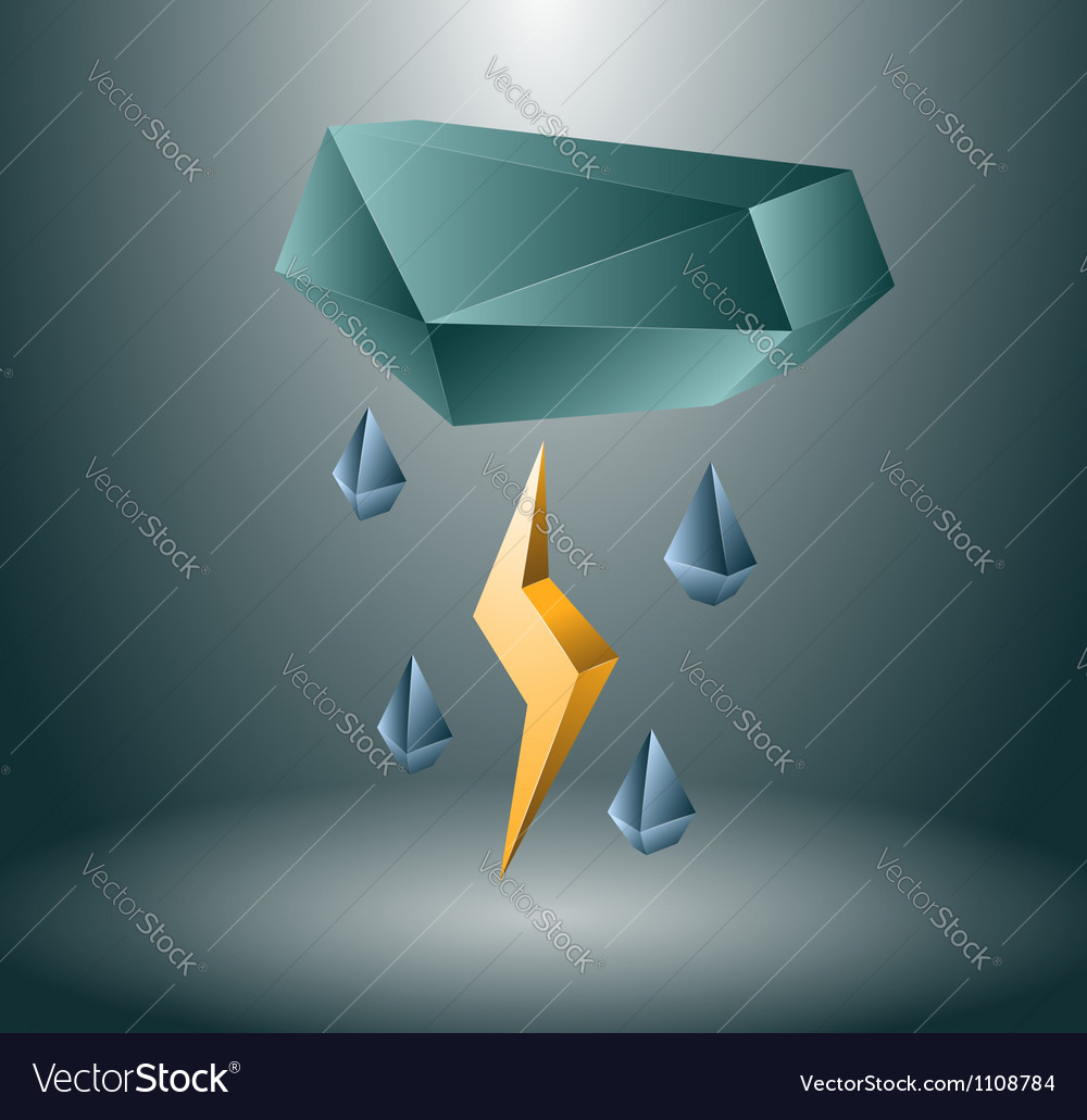 Thunderstorm concept vector | Price: 1 Credit (USD $1)