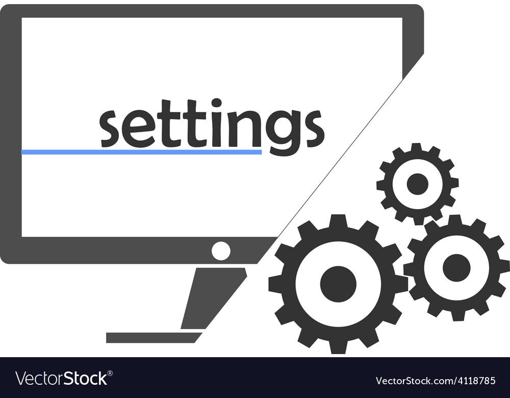 - settings vector | Price: 1 Credit (USD $1)