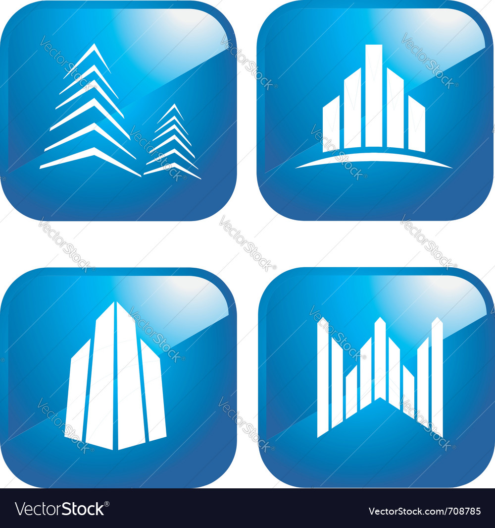 Building icons vector