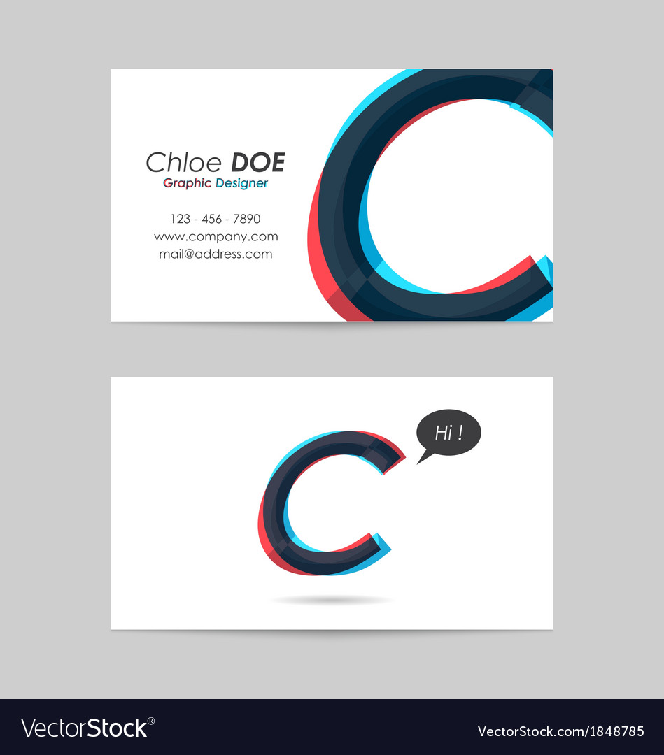 Business card template - letter c vector | Price: 1 Credit (USD $1)