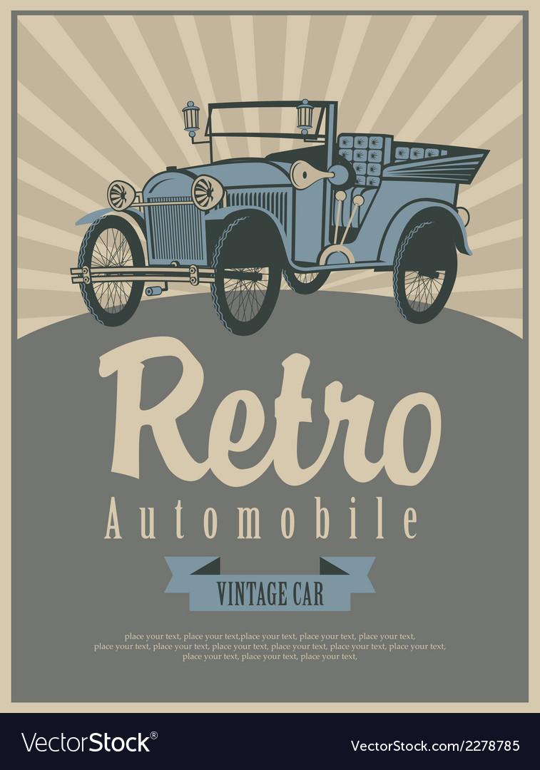 Car retro vector   Price: 1 Credit (USD $1)