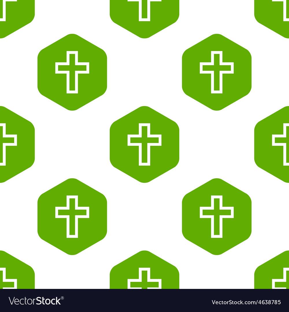 Christian cross pattern vector | Price: 1 Credit (USD $1)
