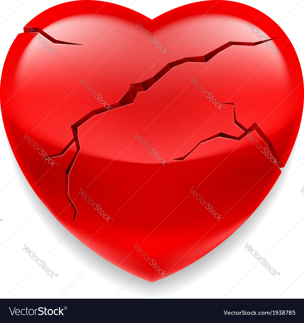 Cracked heart vector | Price: 1 Credit (USD $1)