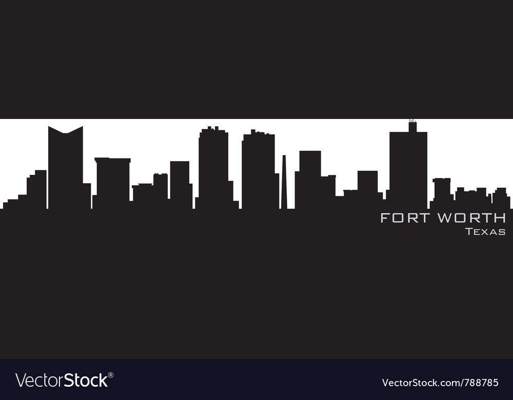 Fort worth texas skyline detailed silhouette vector | Price: 1 Credit (USD $1)
