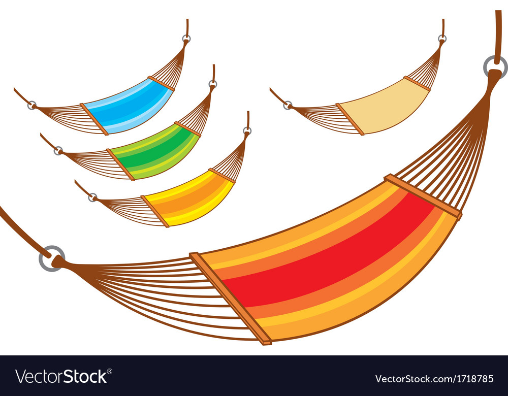 Hammock set vector | Price: 1 Credit (USD $1)