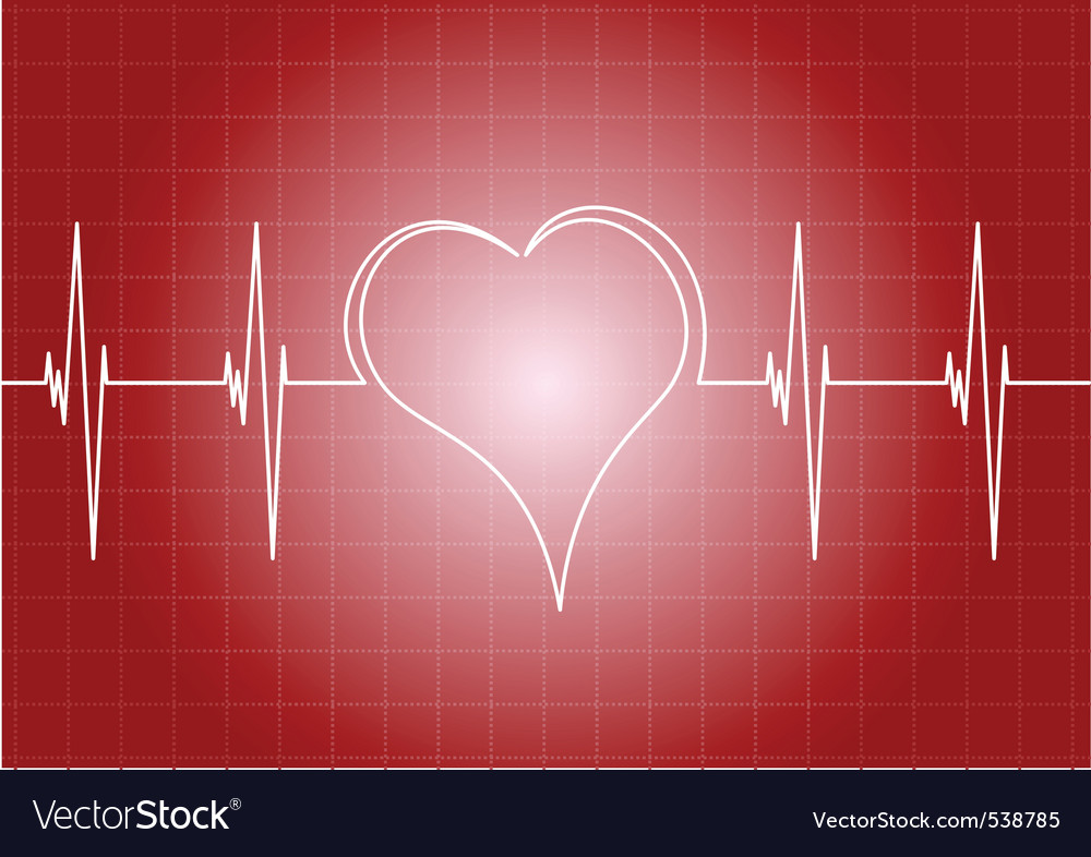 Heart diagram with line heart vector | Price: 1 Credit (USD $1)