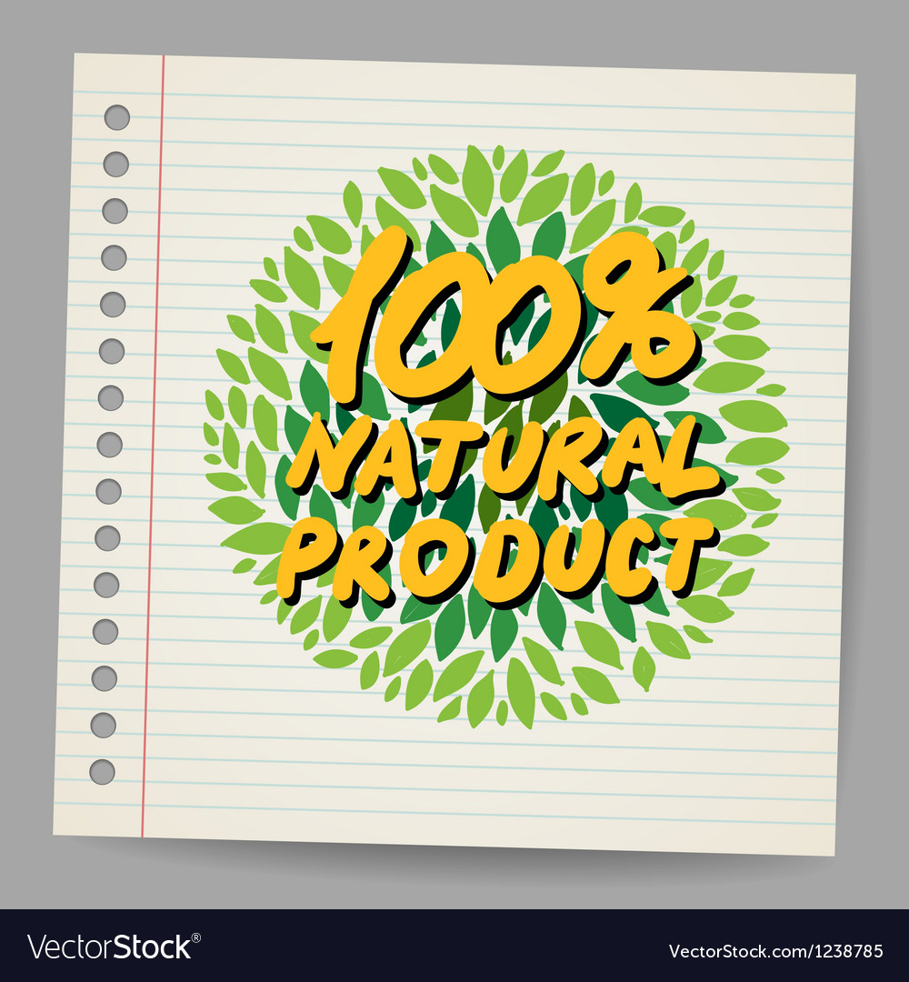 Natural product icon in doodle style vector | Price: 1 Credit (USD $1)