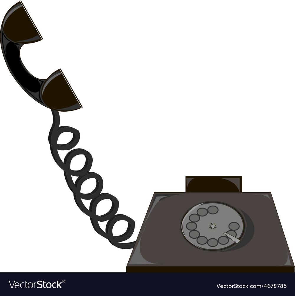 Phone handset vector | Price: 1 Credit (USD $1)