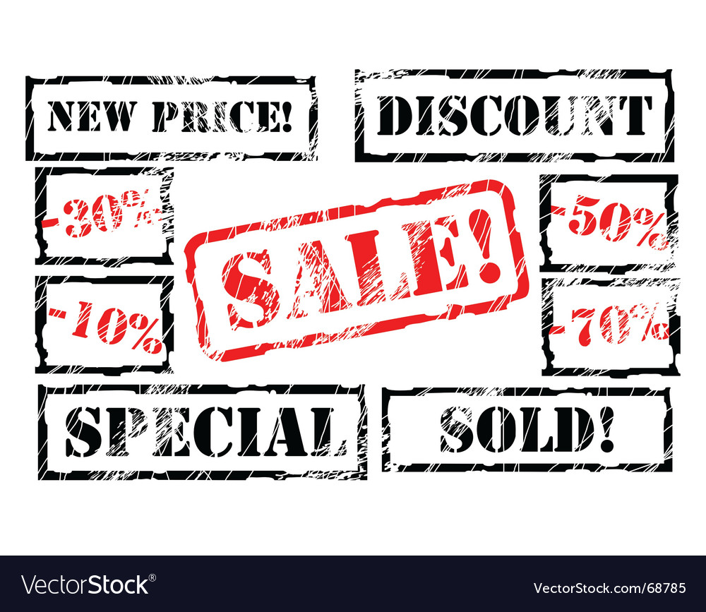 Sale stamps vector | Price: 1 Credit (USD $1)
