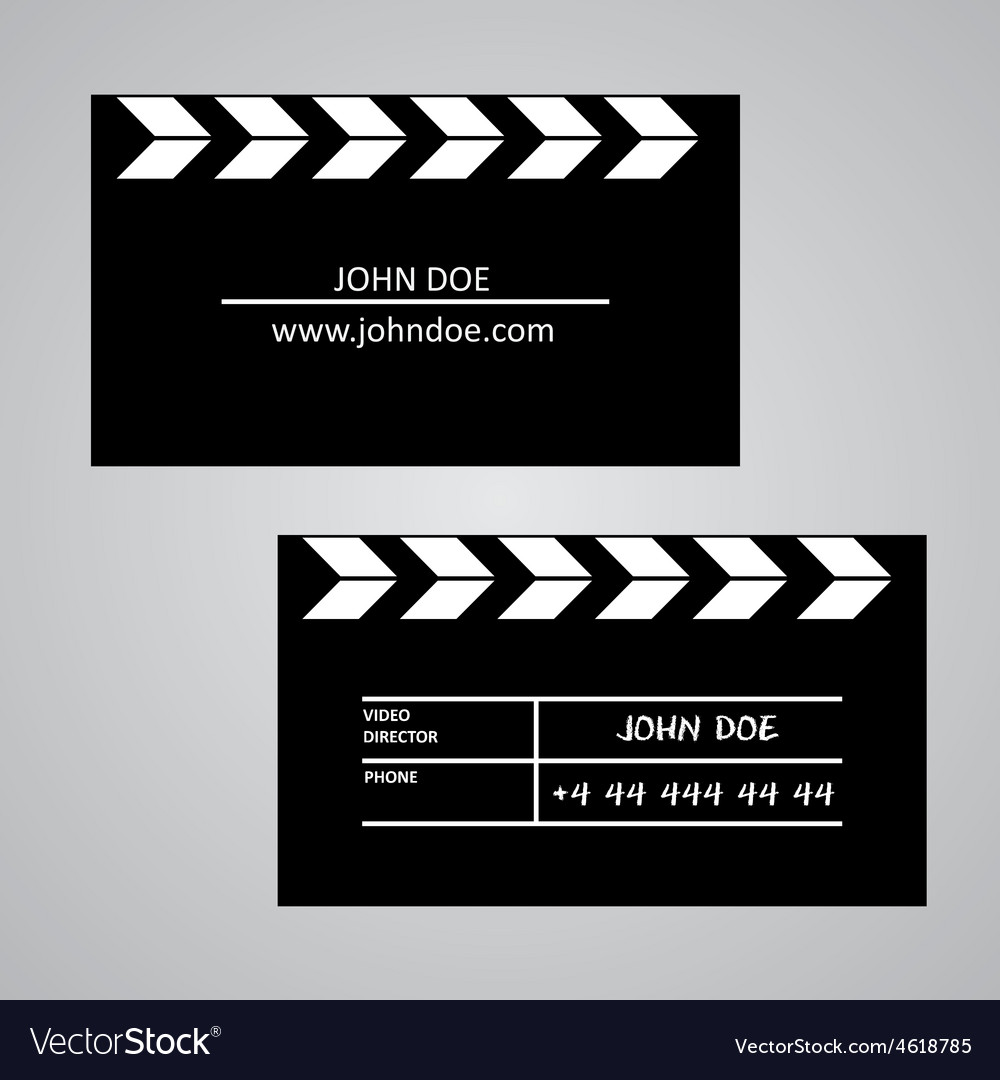 Slate board business card template vector | Price: 1 Credit (USD $1)