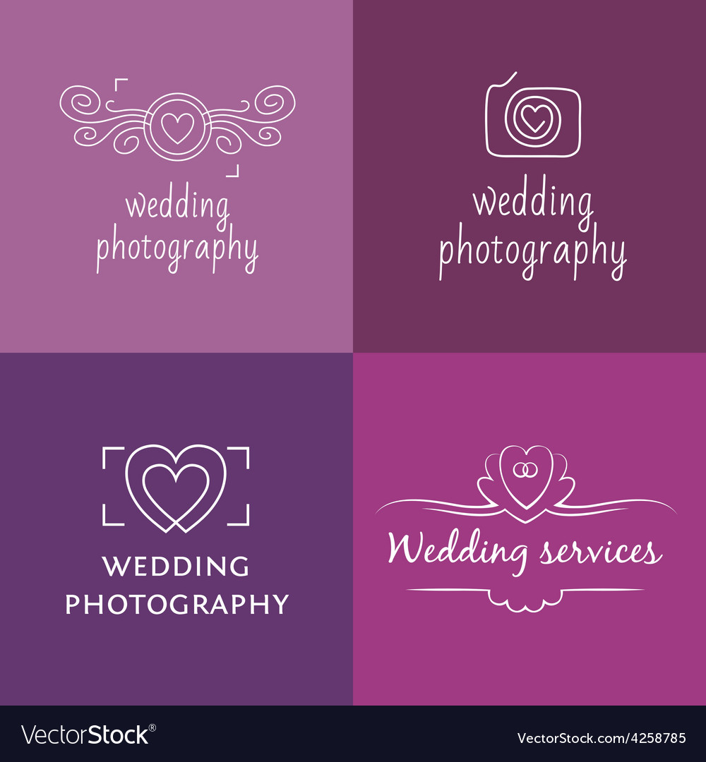 Wedding photography logo vector | Price: 1 Credit (USD $1)