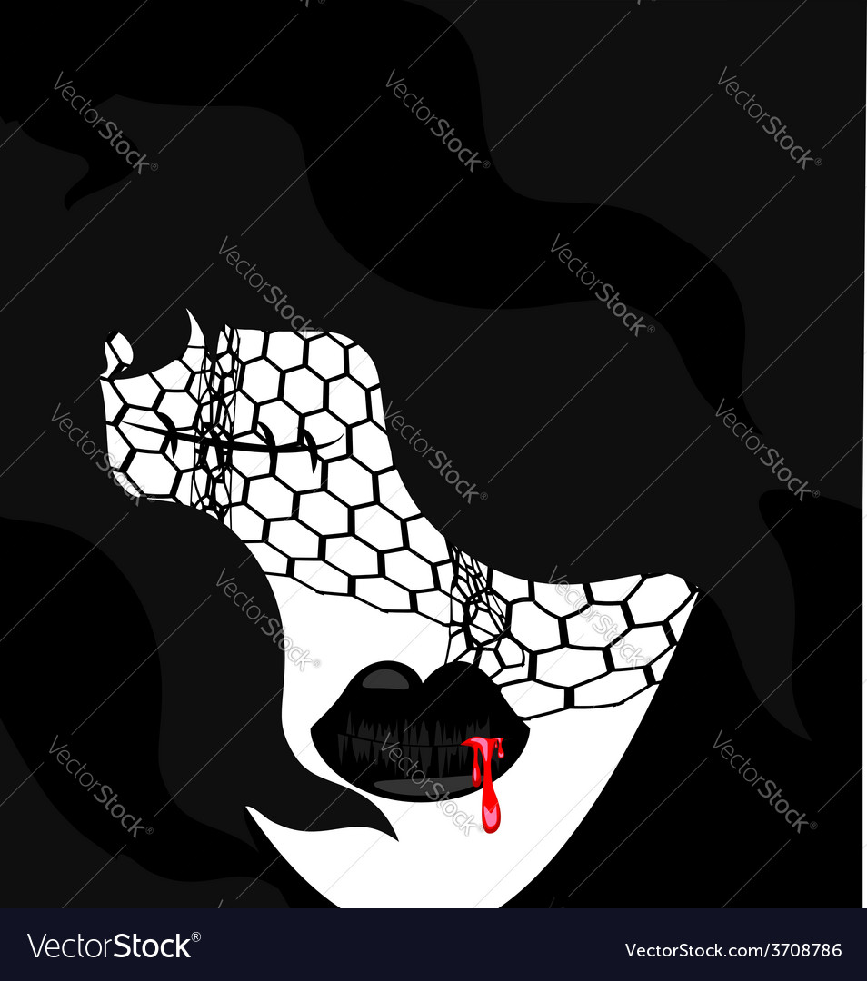 Abstarct gothic face vector | Price: 1 Credit (USD $1)