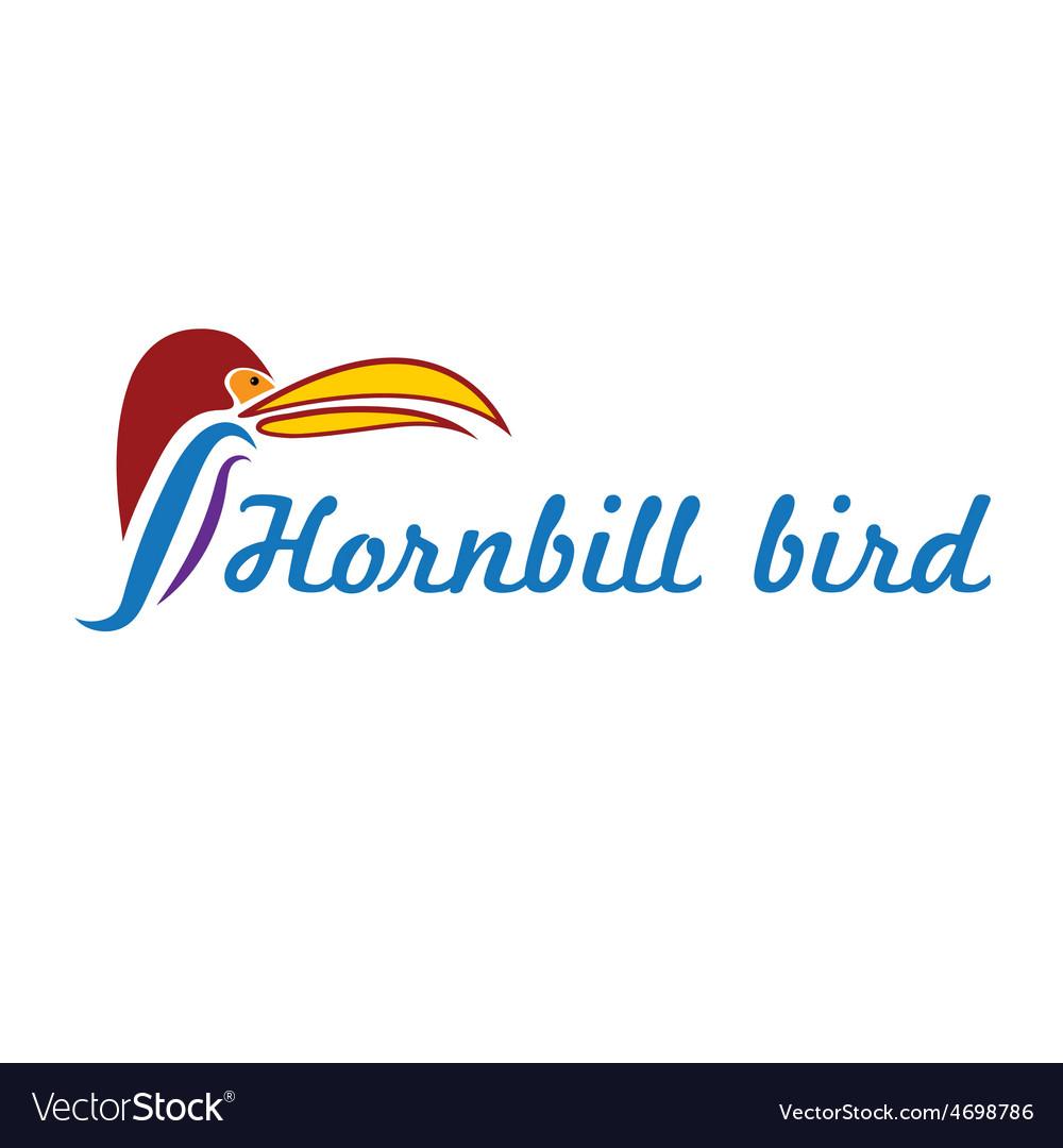 Catoon hornbill bird vector | Price: 1 Credit (USD $1)